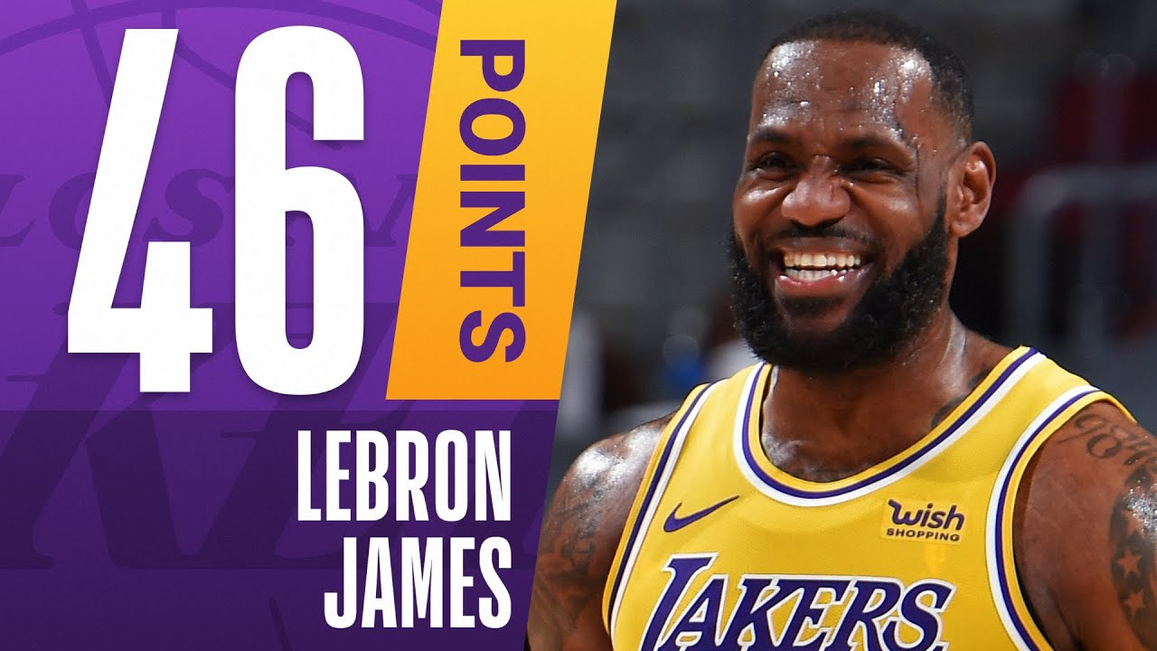 ???? SEASON-HIGH 46 PTS, 7 3PM For LeBron James Against Cleveland!