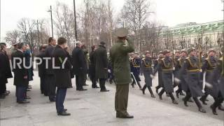 Russia  Uzbek president lays flowers in Moscow honouring St  Petersburg victims