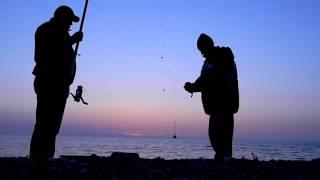 Лиепая. Рыбалка на море.