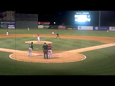 Mets Prospect Champ Stuart Bunt Single 6/21/2014 Savannah Sand Gnats vs. Greenville Drive