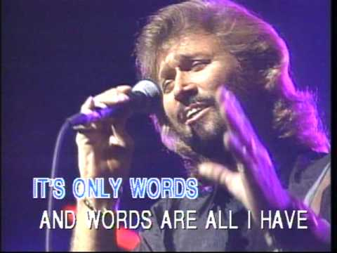 Bee Gees - words  (karaoke).mpg