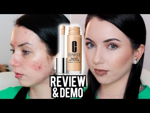 Clinique Beyond Perfecting Foundation + Concealer Review & DEMO (Acne/Fair Skin)
