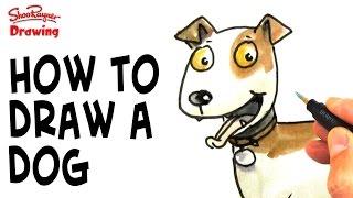 Cómo dibujar un perro de dibujos animados - paso a paso