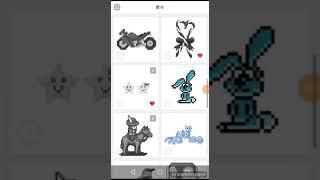 Картинки из приложения Sandbox/ зайчик,котики,туфли,домик, влюблённые цыплята.