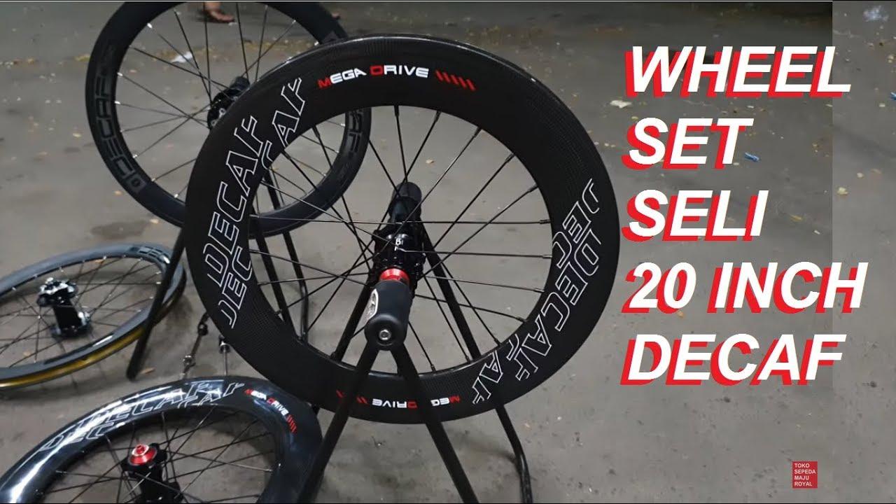 Wheelset Sepeda Lipat 20 inch Decaf ⭐⭐⭐⭐⭐ Disc Brake Hub
