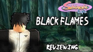Roblox - Shinobi Life | Black Flames KG Review | Get Roasted