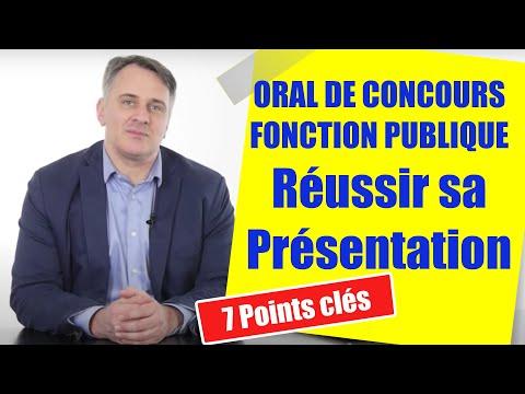 Presentation Oral De Concours Fonction Publique Exemples Et