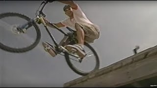 Super radical old school mountain biking on tv.