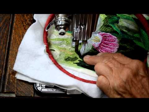 Free Motion Embroidery/Thread Painting Using a Vintage Treadle Sewing Machine
