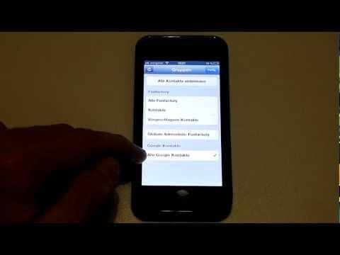 iPhone 5 - Google Kontakte einrichten CardDAV - Kontakte synchronisieren mit Gmail