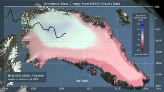 Perte de glace du Groenland