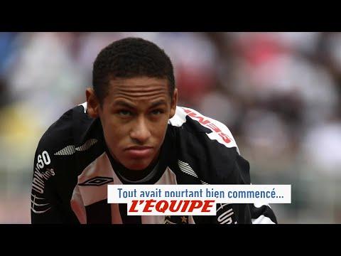 Crête iroquoise, coupe mulet et blond décoloré, les pires coiffures de Neymar - Foot - WTF