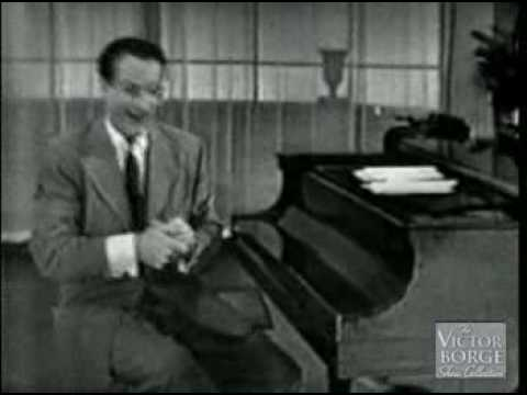 Victor Borge  how people with different occupations play the piano