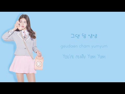 [PRODUCE 101] 7 GO UP (마카롱꿀떡) - YUM YUM (얌얌) | Color Coded Han/Rom/Eng Lyrics (가사)