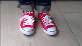 red converse chuck taylor allstar 2013 hot sale on feet