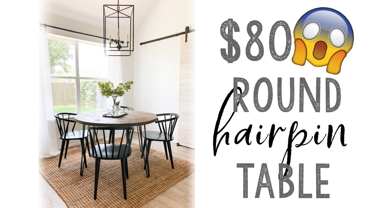 Diy Round Hairpin Table Youtube