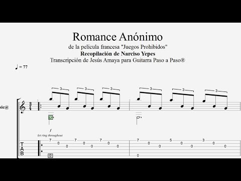 Romance Anónimo -  N. Yepes - Tablatura por Jesús Amaya...