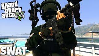 GTA 5 SWAT MOD - Zugriff auf den Flugzeugträger! - Deutsch - Grand Theft Auto V Polizei