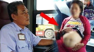 Tài xế xe buýt MẤT TIỀN - MẤT VIỆC vì giúp đỡ THAI PHỤ 'bụng mỡ'