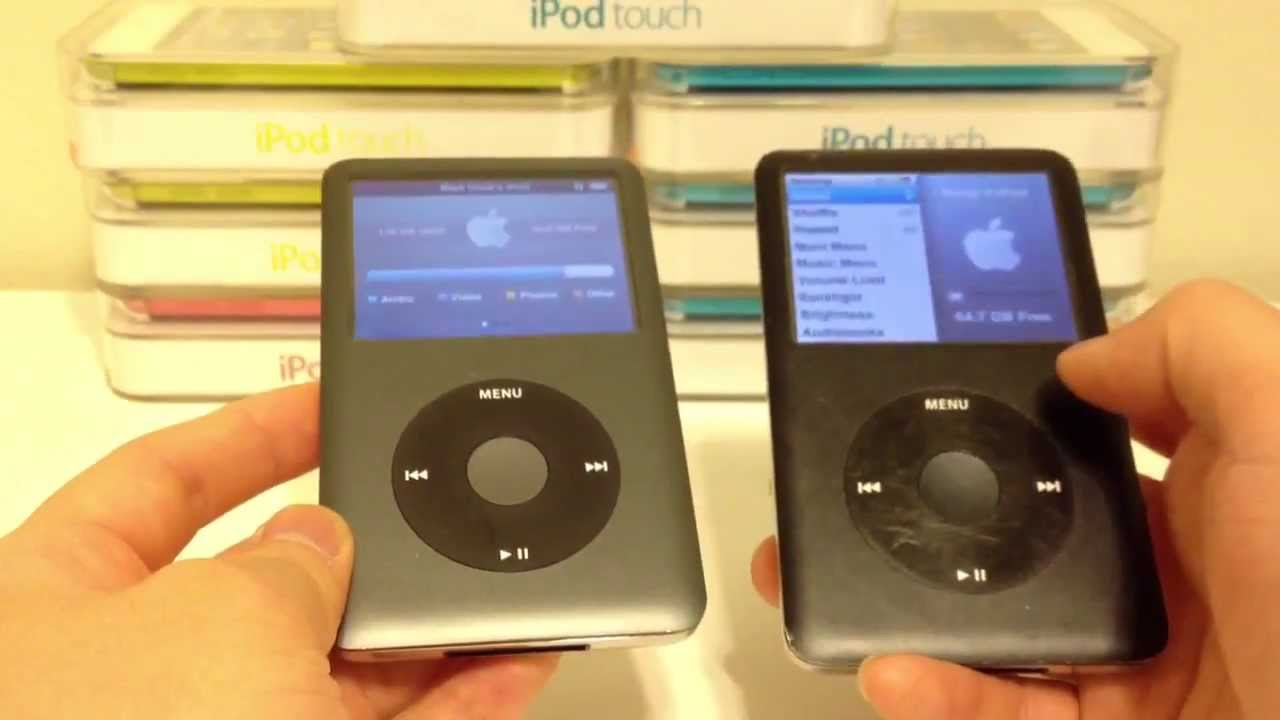 Apple Ipod Classic 6th Generation Vs 7th Generation Comparison Difference Youtube
