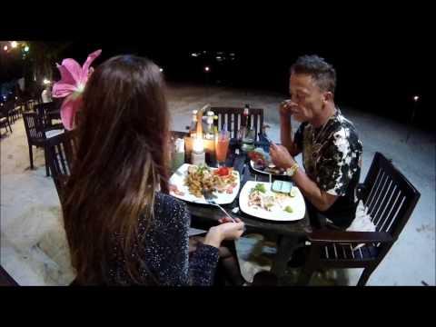 Wonderful dinner at resort in Koh Pha Ngan Thailand V.513...ทานอาหารเย็นที่เกาะพงัน