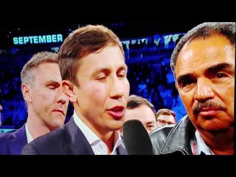 Gennady Golovkin vs Canelo Alvarez September 16th post fight interview