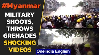Myanmar armed forces intensify violence against anti-coup protesters: Watch | Oneindia News