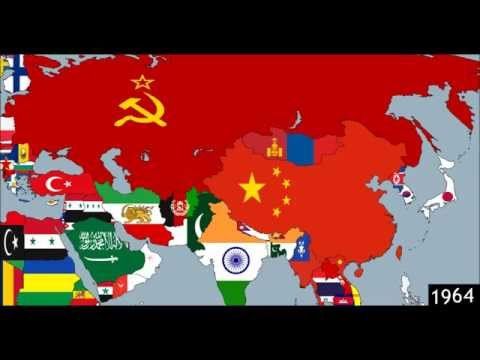 Mainland Asia: Timeline of National Flags - Part 1