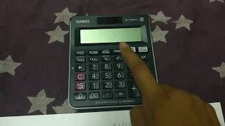 How to compute PVIFA on Casio MJ 120D