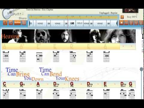 Tears In Heaven -  Eric Clapton -  Guitaraoke - www.playwhatyoufeel.com