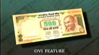 Film of Rs 500 Security Feature old & New Bank Note