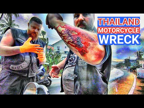 THAILAND MOTORCYCLE WRECK