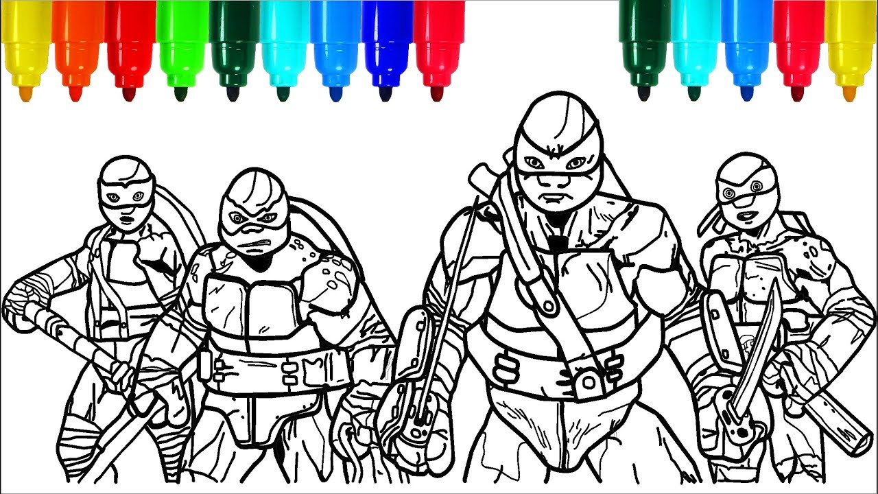 - TEENAGE MUTANT NINJA TURTLES Coloring Pages # 3 Colouring Pages