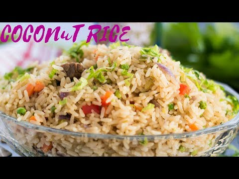 COCONUT RICE RECIPE (AFRICAN STYLE) [Episode 34]- Ke's Cook Island