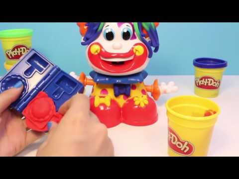 [Play Doh Frozen] Play Doh Clown Playset Playdough Funny Clown Plastilina Plasticine Hasbro Toys