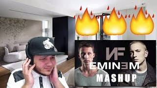 NF & Eminem Mashup REACTION!!