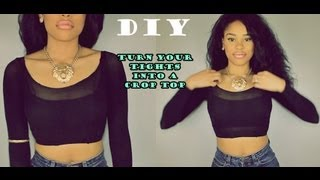 One of ItsMyRayeRaye's most viewed videos: DIY: How to Turn your old Tights into a cute Top!
