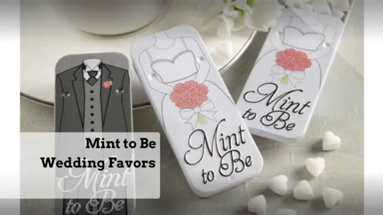 Mint To Be Wedding Favors - YouTube