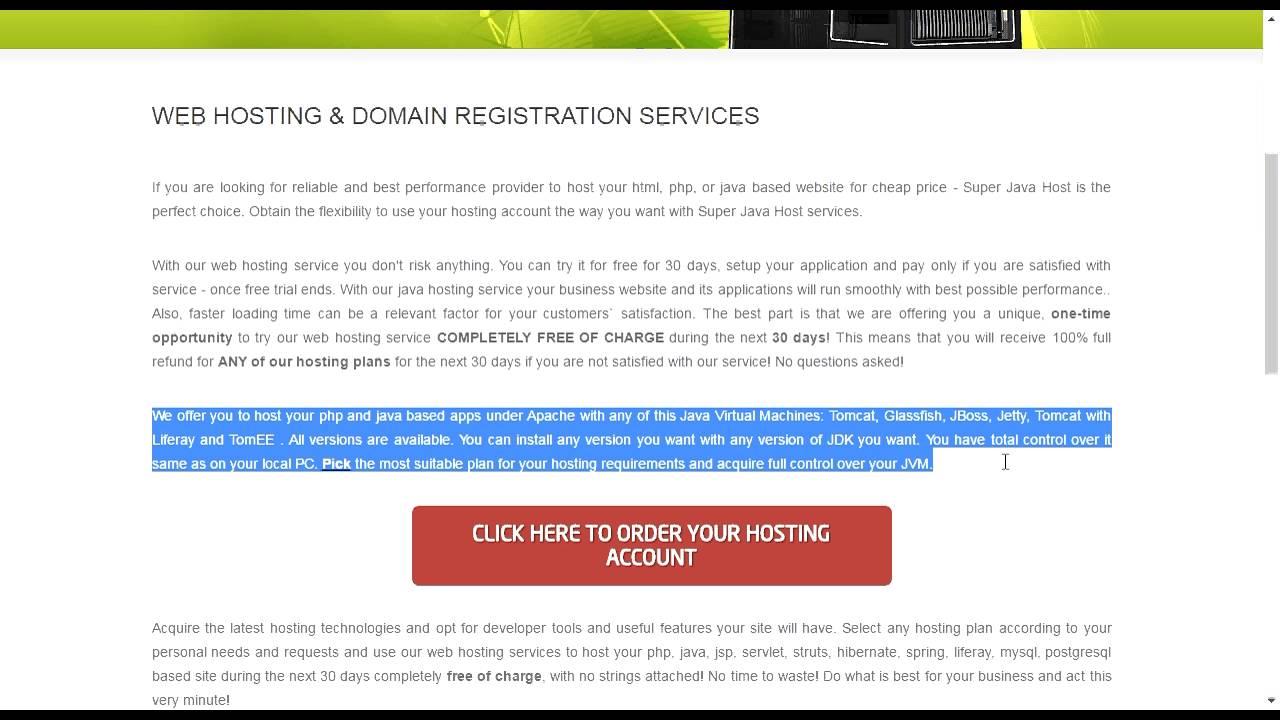 Бесплатный хостинг mysql java как самому сделать систему управления сайтом