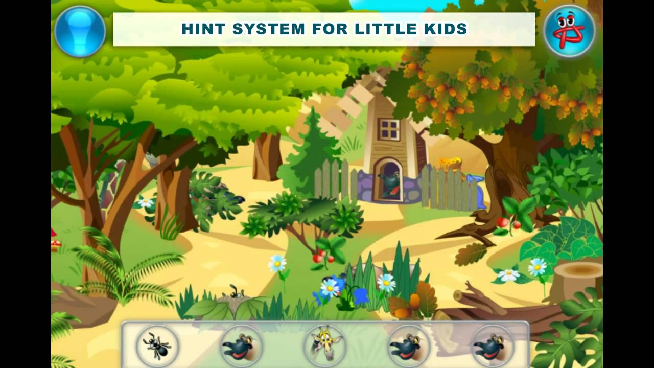 Play Free Hidden Object Games For Kids Animal Hide And Seek Youtube