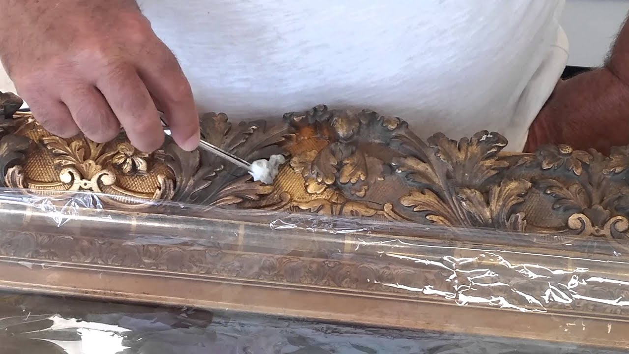 Professionally Cleaning A Gilded Frame Youtube