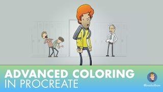 Advanced Comic Coloring in Procreate