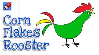 How to Draw the Corn Flakes Rooster Real Easy for Kids and Beginners