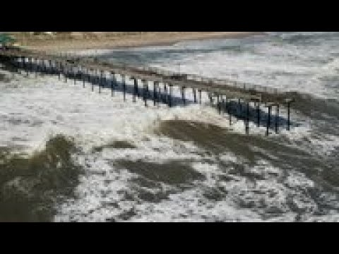 NC Fishing Pier Battered In Aftermath Of Dorian