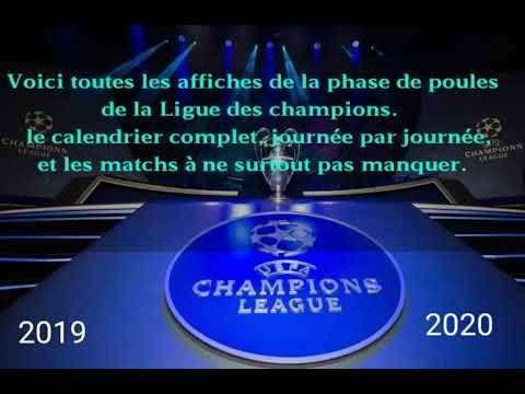 Champions League 2019 Calendrier.Ligue Des Champions 2019 2020 Le Calendrier Complet Et Les Dates A Ne Pas Manquer