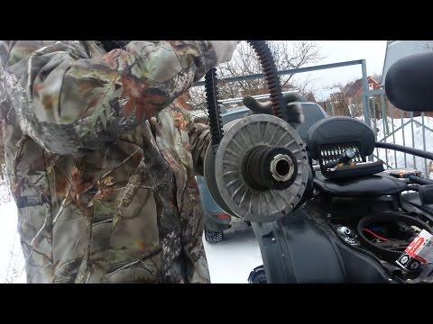 Замена ремня вариатора на квадроцикле Cf moto 500-2a. Часть 2