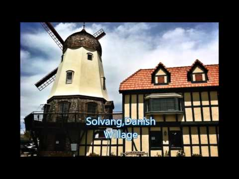 Santa Barbara courthouse + Solvang, CA, Danish Village.