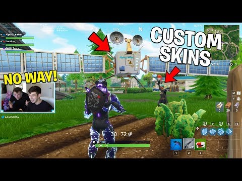 The CHEATER gave everyone CUSTOM SKINS in Fortnite.. (Fortnite Battle Royale)