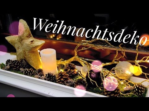 weihnachtsdeko f r die fensterbank wohnprinz youtube. Black Bedroom Furniture Sets. Home Design Ideas