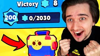 LEVEL 200 a ODMĚNA MEGA BOX OPENING! | Brawl Stars